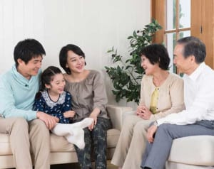 2世代家族で話し合い