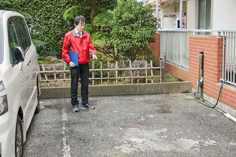 空き家の管理サービス マンションプラン 駐車場見回り・清掃